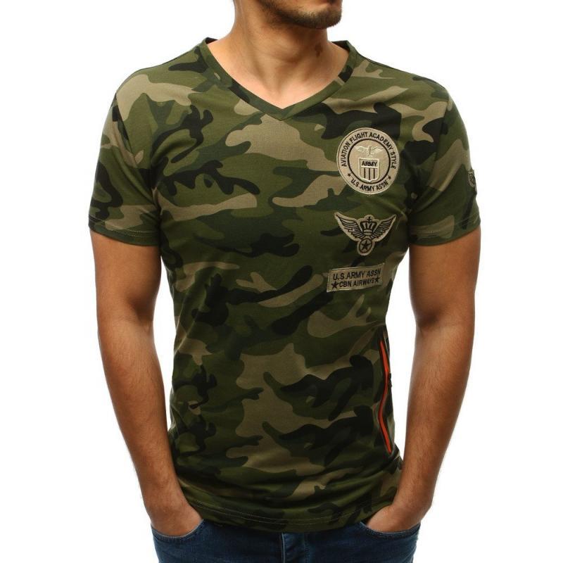 594b3ada7288 Pánské ELEGANT tričko kamuflážní   maskáčové zelené
