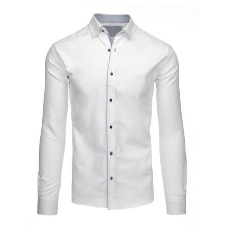 Pánská stylová košile bílá do obleku i saka