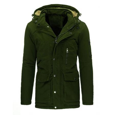 Pánská stylová zimní bunda olivová