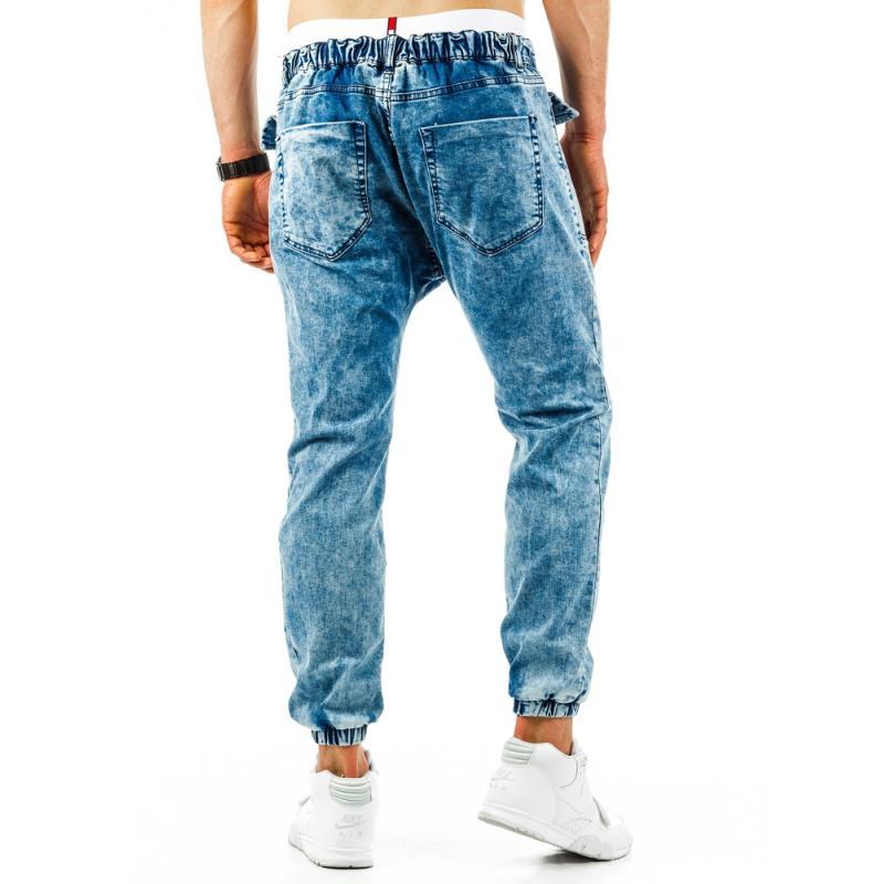 Pánské stylové kalhoty světle modré  f45bdf39bd