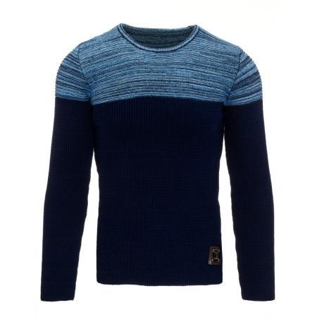 Pánský moderní svetr v modré barvě