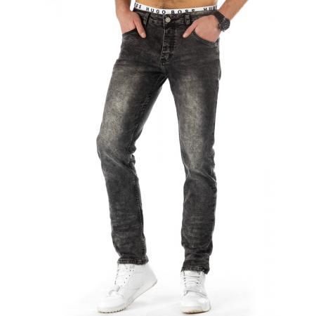Pánské módní jeansové kalhoty černé