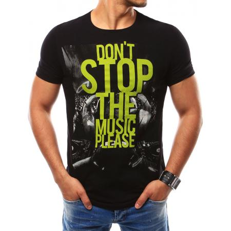 Pánské tričko s potiskem černé 1e566394e0