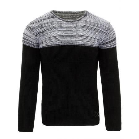 Pánský moderní svetr černo šedý