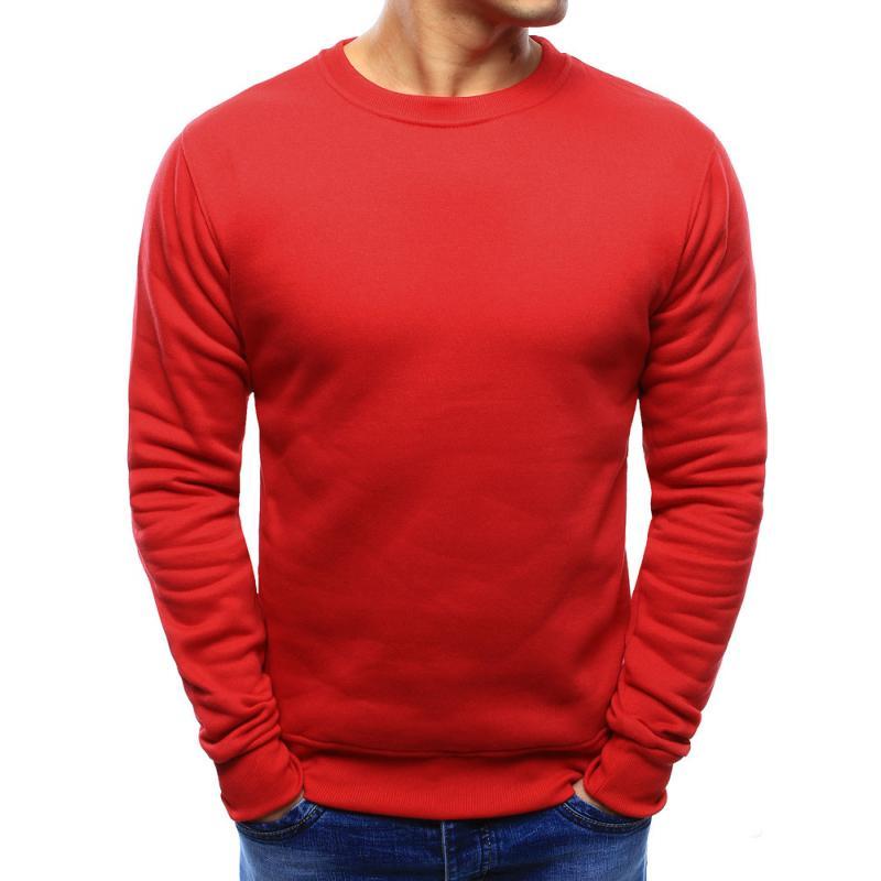 Pánská ELEGANT mikina jednobarevná červená 1cedb9141a