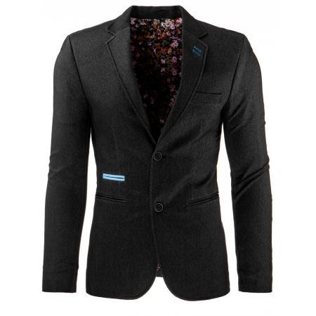 Stylové pánské sako v módním střihu černé