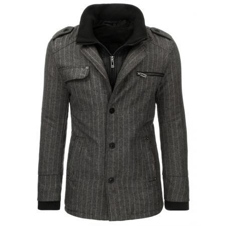 Pánský stylový kabát antracitový