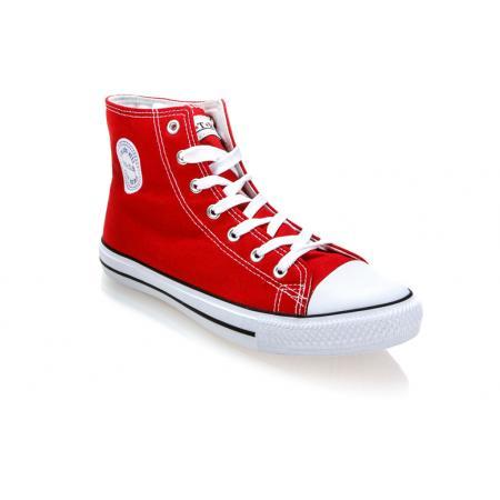 Pánské červené kotníkové plátěné boty (tenisky) MSTR CQ-1401