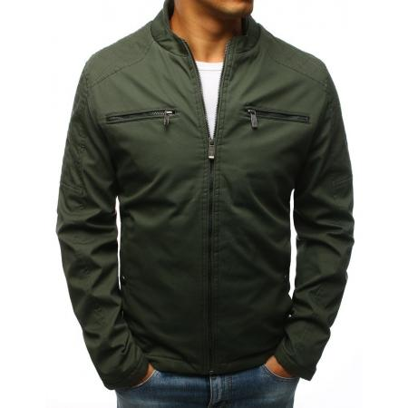 Levně Pánská MODERN bunda přechodná zelená