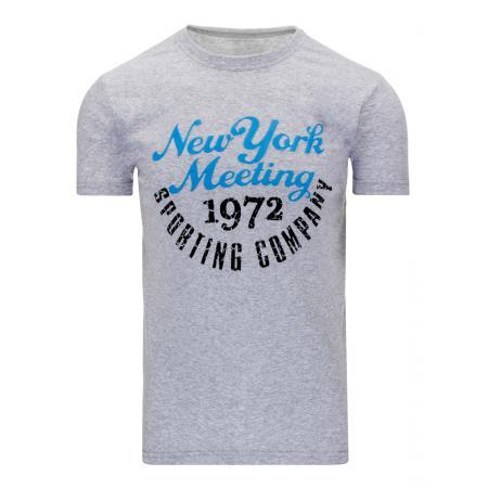 Pánské moderní tričko s potiskem (triko) šedé