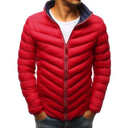 Pánská zimní prošívaná bunda červená