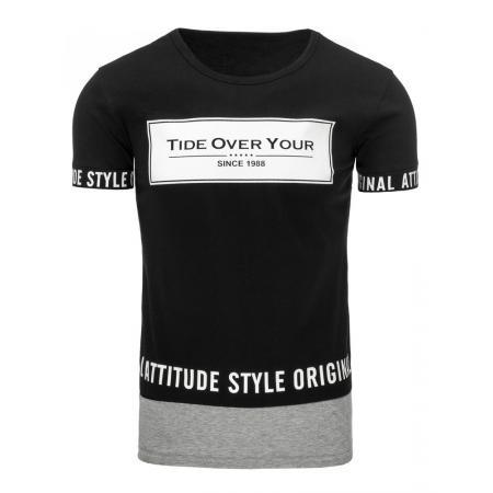 Pánská tričko s potiskem černé