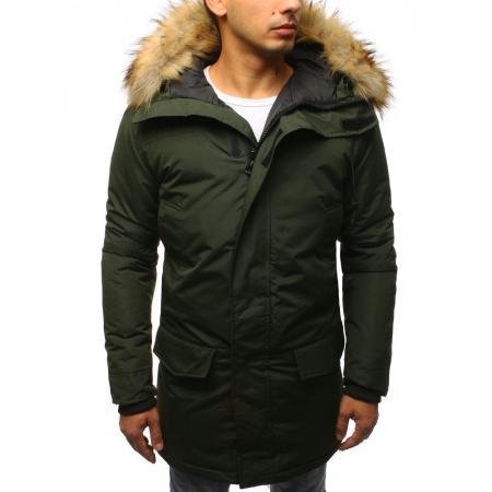 Pánská zimní bunda zelená