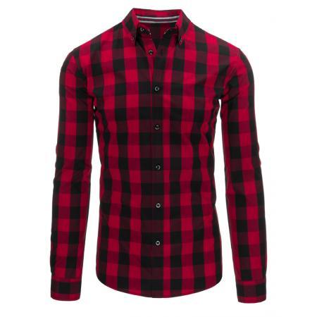 Červená pánská košile kostkovaná