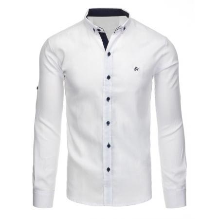 Bílá pánská košile s dlouhým rukávem
