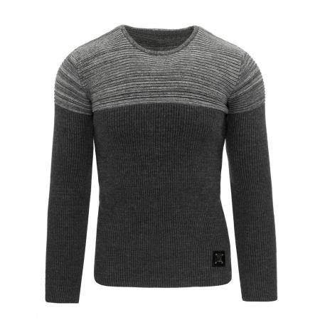 Pánský moderní svetr antracitový