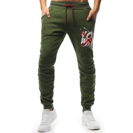 ef23ce98f62 Panske kalhoty automatic zelene levně
