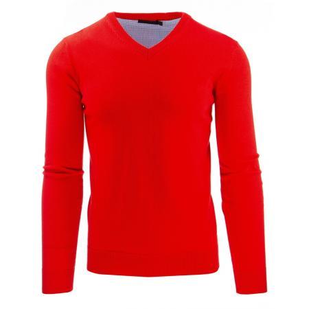 Módní pánský svetr do v červený