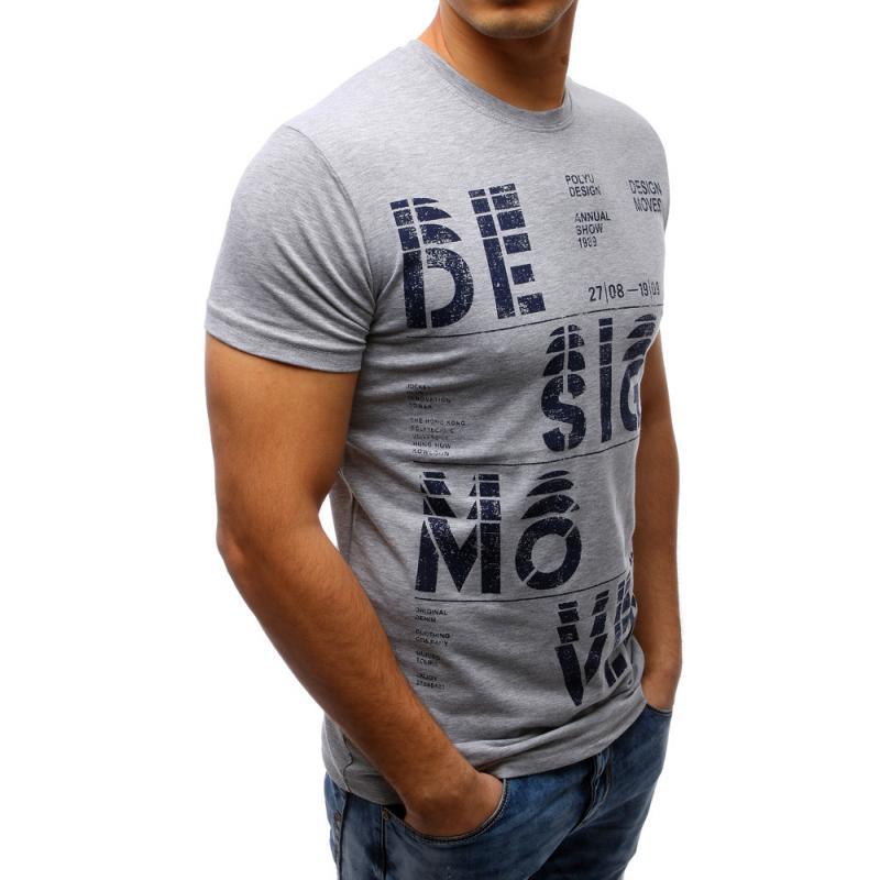 59a950272f1 Pánské tričko s potiskem šedé