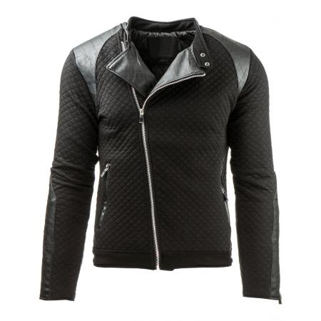 Pánská prošívaná přechodová bunda černá