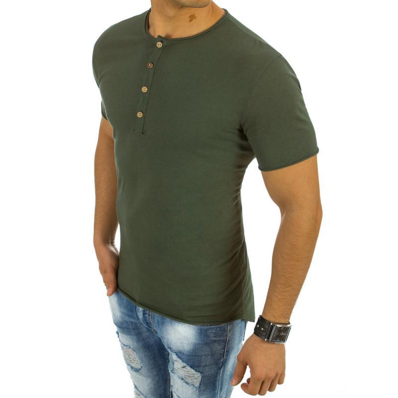 Pánské tričko bez potisku zelené  30b24148bf