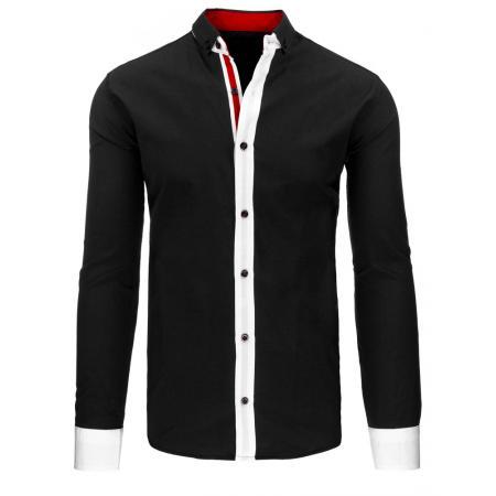 Pánská stylová košile černá