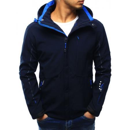 Pánská bunda softshell s kapucí tmavě modrá