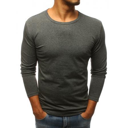 Pánské antracitové tričko s dlouhým rukávem 4d590117f1