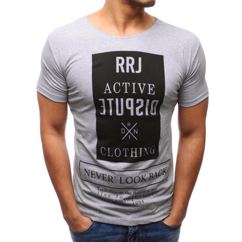 8aab1fb83526 Pánské tričko s potiskem šedé