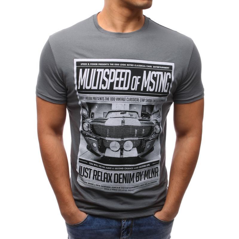 4ae6ca51b568 Pánské tričko STYLE s potiskem grafitové