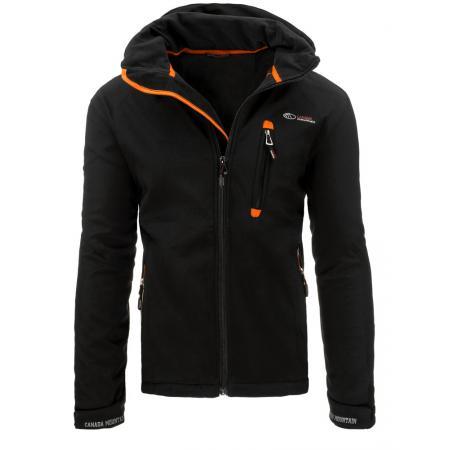 Pánská bunda přechodová softshell černá