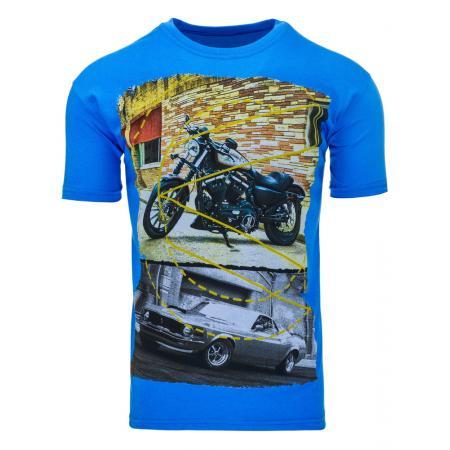 Pánské triko (tričko s potiskem) světle modré