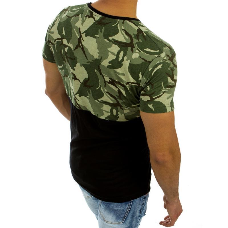 Pánská tričko s potiskem maskáčové - kamuflážní černé  e7ce370e781