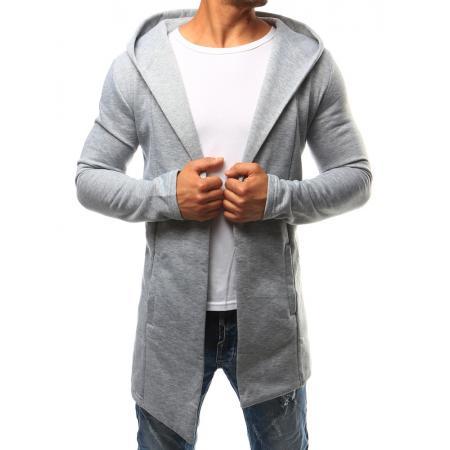 Pánská mikina přes hlavu s kapucí šedá