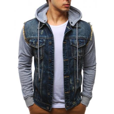 Pánská jeansová bunda modrá