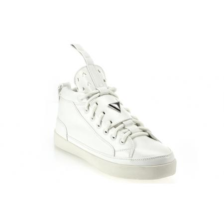 Pánské moderní kožené boty (tenisky) GOV DENIM 008-11W bílé