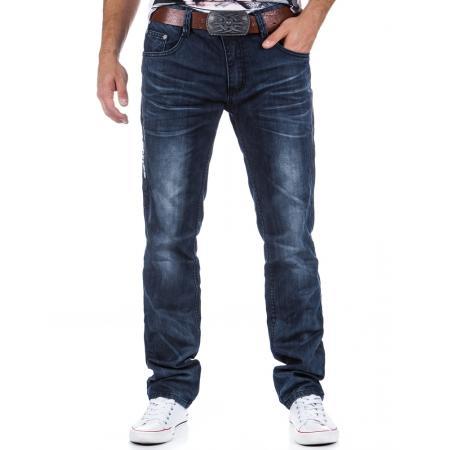 Pohodlné stylové pánské jeansy (džíny) tmavě modré