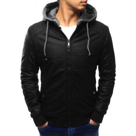 Pánská bunda kožená černá