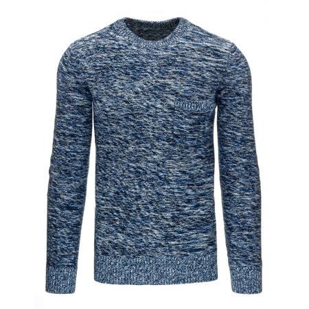 Pánský moderní svetr nebeská modř