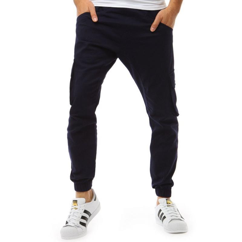 1109ad1cac75 Pánské kalhoty STYLE joggery tmavě modré