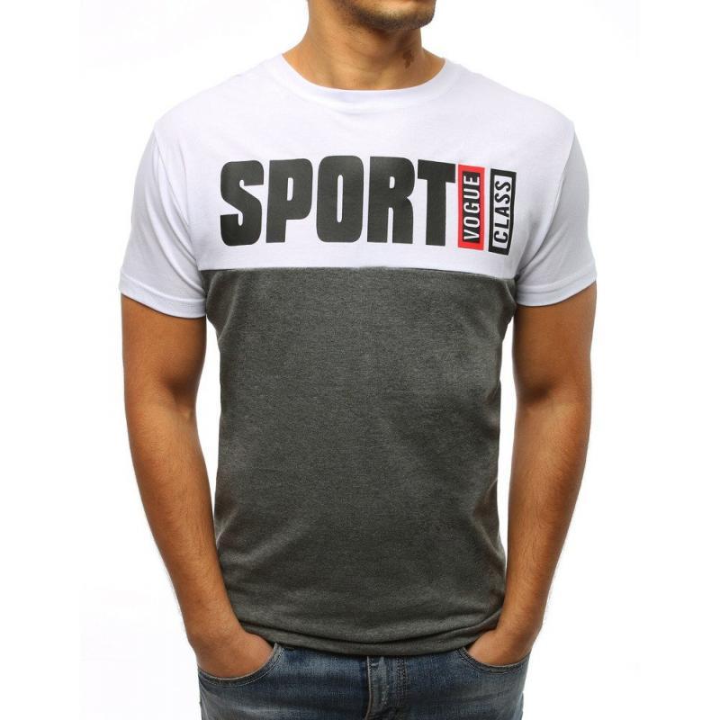 6bd7cf71532 Pánské tričko STYLE s potiskem bílé