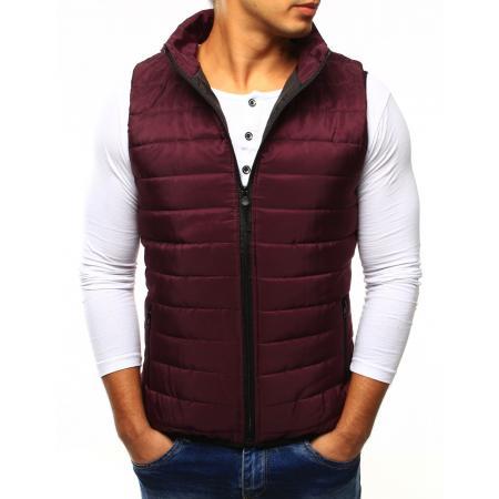 31ea5ef4933d Pánská vesta prošívaná bez kapuce červená