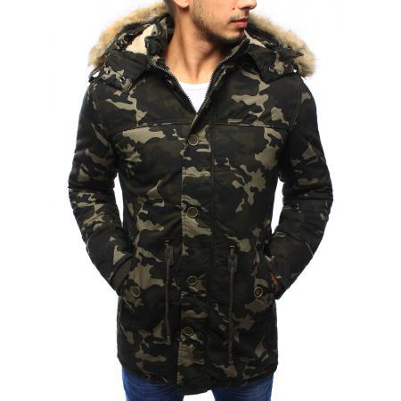 Pánská bunda parka zimní maskáčová