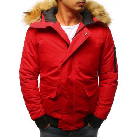 Pánská zimní červená bunda