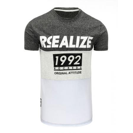 Pánská tričko s potiskem grafitová