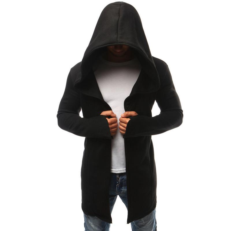 Pánská mikina přes hlavu s kapucí černá  96c4d51153