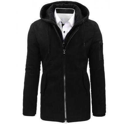 Černá pánský zimní kabát