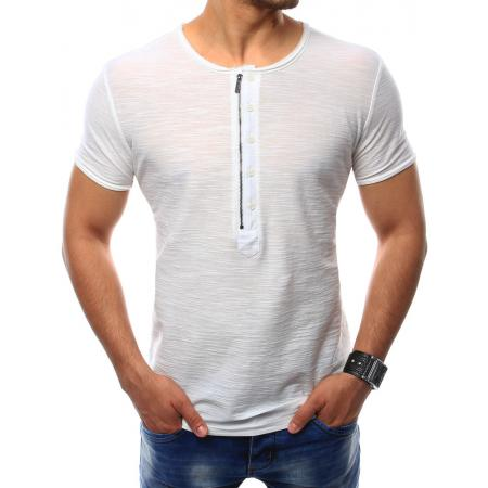 Pánská tričko bez potisku bílé