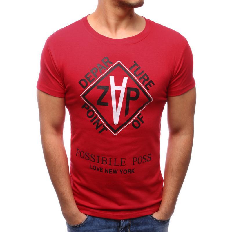 84059cd51396 Pánské ORIGINAL tričko s potiskem červené