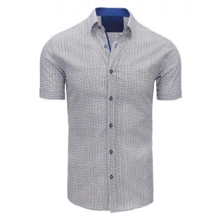 Bílá pánská moderní košile vzorovaná 39922d2d9a